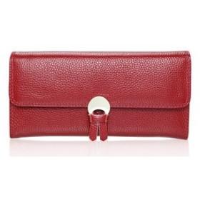 LYgMV 財布、新しい財布の女性の長い薄いバックル極薄い女性の財布の韓国語バージョン長いシンプルな革の財布 (Color : 3)