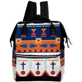 CHENYINAN リュックサック リュック 学生 レディース 民族風 幾何 ストライブ メンズ 大容量 マザーズバッグ がま口 バックパック 通勤通学 デイバッグ かわいい おしゃれ