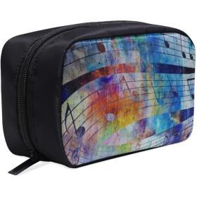 GGSXD メイクポーチ ミュージカルエレメント ボックス コスメ収納 化粧品収納ケース 大容量 収納 化粧品入れ 化粧バッグ 旅行用 メイクブラシバッグ 化粧箱 持ち運び便利 プロ用