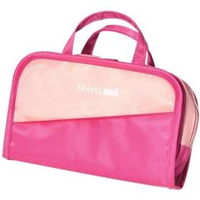 LSHJP 出張化粧防水化粧品オーガナイザー多機能ケーストイレタリーバッグ (Color : Ros0eRedWithPowder)
