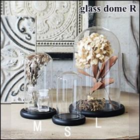 SPICE OF LIFE ガラスドーム カバー ブラック クリア Mサイズ 直径15.5cm 高さ27cm NGGT2312