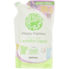 <お得な3個パック>ハッピーエレファント 液体洗たく用洗剤 詰替用720ml×3個