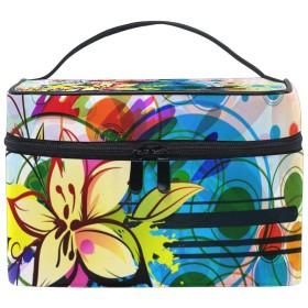 AyuStyle おしゃれ 花柄 バニティケース メイクボックス コスメボックス 大容量 化粧品収納 収納ケース 小物入れ 大容量 メイクバッグ
