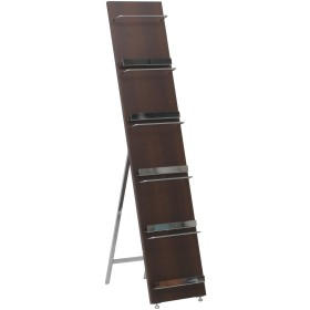 不二貿易 マガジンラック パンフレットスタンド 5段 幅30cm ブラウン 木製 デコール 82309