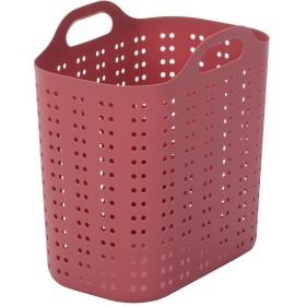 ランドリーバスケット (深型, 濃ピンク)