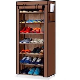 YUZO カバー付きシューズラック7段 靴箱収納 下駄箱 玄関収納 組立簡単 幅60cm×奥行30cm×高さ126cm 【一ヶ月返品保証】
