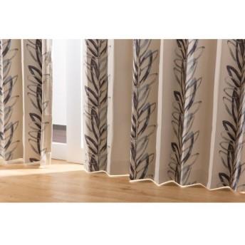 IN-FA-LA 北欧デザイン 遮光カーテン 2枚組(遮熱・保温・形状記憶) 100×135cm ブルー 4875C202