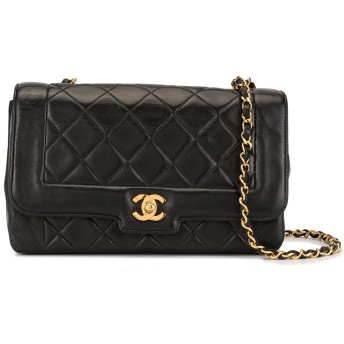 Chanel Pre-Owned マトラッセ ショルダーバッグ - ブラック