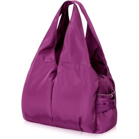 超軽量 マザーズバッグ ママバッグ リュック ナイロンショルダーバッグ アウトドアバッグ ハンドバッグ おしゃれ多機能 大容量 シンプル 防水 サイズ331251cm【紫】