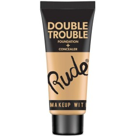 (3 Pack) RUDE Double Trouble Foundation + Concealer - Fair (並行輸入品)