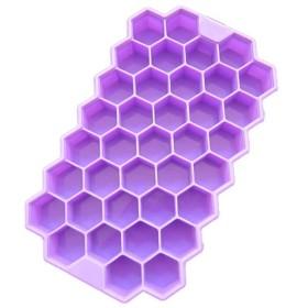 Wholehot アイスキューブトレイ 37個取り アイストレー ハニカム 製氷皿 製氷器 四角氷 シリコン製 全4色