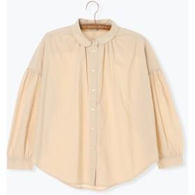 【6,000円(税込)以上のお買物で全国送料無料。】丸衿ギャザーシャツ