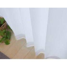 日本製 UVカット率90% レースカーテン「UVプロテクション」【UNI】(既製品)ウェイブ(#9811326)100×183cm2枚組 遮熱 ミラー加工
