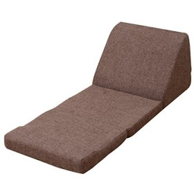 山善 テレビ枕 幅46×奥行110×高さ36cm 折りたたみ コンパクト 座椅子 ぶ厚い 足元ふっくら 完成品 ダークブラウン ITFC-46(DBR)