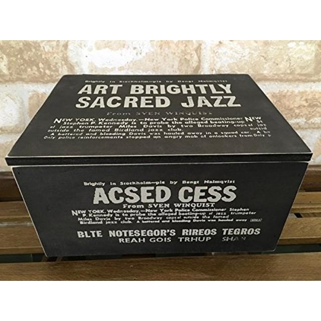 木製 ふた付きボックス 収納ボックス インテリアボックス カラー (ブラウン・ブラック) wd-029 【1565】 (ブラック)