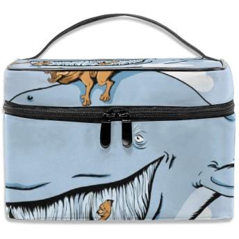 化粧ポーチ動物 鯨 メイクポーチ コスメバッグ 収納 雑貨大容量 小物入れ 旅行用