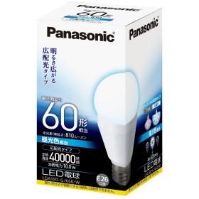 パナソニック LED電球 一般電球タイプ 広配光タイプ 10.0W  (昼光色相当) E26口金 電球60W形相当 810 lm LDA10DGK60W