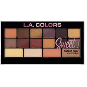 (3 Pack) L.A. Colors Sweet! 16 Color Eyeshadow Palette - Brave (並行輸入品)