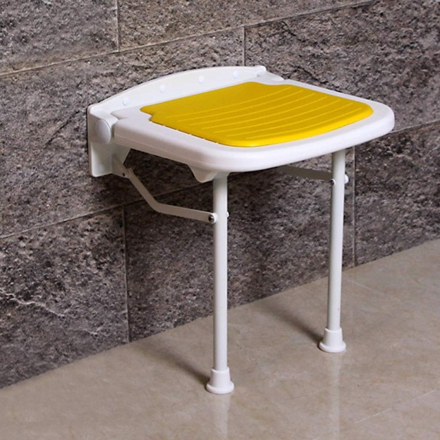 バスルーム折りたたみスツールシートシャワースツール滑り止めバスルーム高齢者バスシートベンチウォールスツール (Color : PURPLE, Size : 3836.545CM)