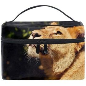 便携式ライオン メイクボックス 收納抜群 大容量 可愛い 化粧バッグ 旅行