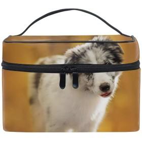 コスメポーチ 多機能収納ボックス 防水ケース 白い子犬オージー小型犬の子犬大容量 高品質 超軽量 旅行用