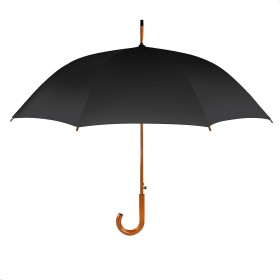 Hometek 長傘 お洒落 ジャンプ傘 8本骨傘 親骨60cm 木製中棒 耐風撥水 梅雨対策 軽量 ビジネス用紳士傘 ブラック