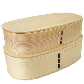 (タワタワ) tawatawa 曲げわっぱ 白木 二段 お弁当箱/ナチュラル ランチボックス