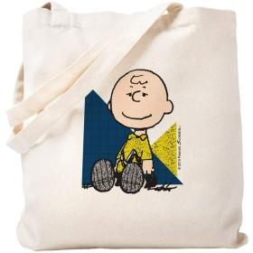 CafePress–the Peanuts Gang : Charlieブラウン–ナチュラルキャンバストートバッグ、布ショッピングバッグ S ベージュ 1487521074DECC2