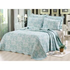 和式 無地 植物花柄模様 ベッドカバー 綿100% 3点セット ベッドスプレッド 枕カバー マルチカバー 230250cm