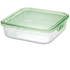 FANGFANG 耐熱ガラスクリスパー、電子レンジ、冷凍冷蔵、7ピースグリーン (色 : クリア, サイズ さいず : 1200ml)