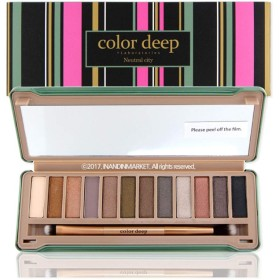 Color Deep 12Color Eyeshadow Paletteアイシャドウパレット#Neutral City(並行輸入品)