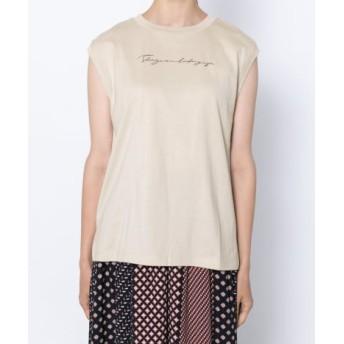 SENSE OF PLACE(センスオブプレイス) トップス Tシャツ・カットソー スクリプトノースリーブトップス