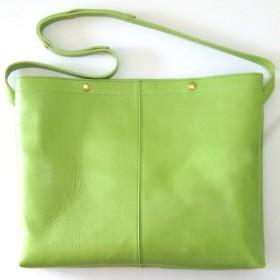 BIG SACOCHE neo green 本革製 サコッシュバッグ