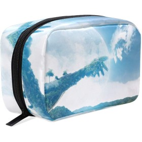 Carrozza 化粧ポーチ メイクボックス ポーチ 仕切り レディース 女の子 学生 おしゃれ 空 青空 雲 手 化粧バッグ メイクポーチ 化粧ボックス コスメバッグ 小物ケース かわいい