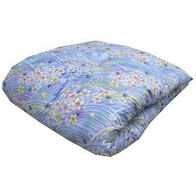 エブリ寝具ファクトリー 讃岐ふとん 和敷き布団 シングル (ブルー系) 日本製 メキシコ綿100% 敷布団