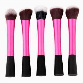 ハイメン 5ピースピンクソフト剛毛化粧ブラシセットアドバンスルースパウダーブラシアイシャドウブラシ輪郭ブラシ (Color : Pink)
