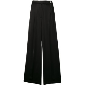 Semicouture プリーツ ワイドパンツ - ブラック