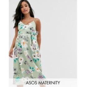 エイソス ASOS Maternity レディース ワンピース マタニティウェア キャミワンピ ASOS DESIGN Maternity sweetheart neck cami midi prom