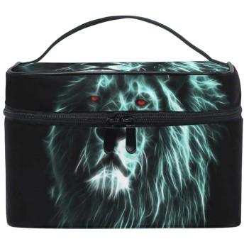 メイクポーチ 獅子 化粧ポーチ 化粧箱 バニティポーチ コスメポーチ 化粧品 収納 雑貨 小物入れ 女性 超軽量 機能的 大容量