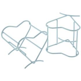 2個 スポンジホルダー 美容スポンジブレンダー 乾燥スタンド 可愛いハート 4色選べ - 青