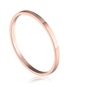 Aooaz レディース 指輪 ピンクゴールドメッキ 1.5ミリメートル 細い 尾指関節 ミディリング ピンキーリング サイズ:9