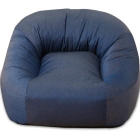 エムール 日本製 あぐらがしやすい 座椅子 iruneruTOKYO 『マフィー』 コンパクトタイプ ネイビー