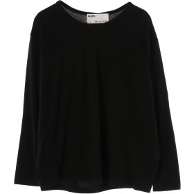 isato isato/イサト モイストブレスバックドレープカットソー Tシャツ・カットソー,BLACK