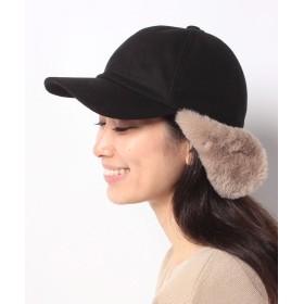 イーハイフンワールドギャラリー Wool Fur Cap レディース ブラック F 【E hyphen world gallery】