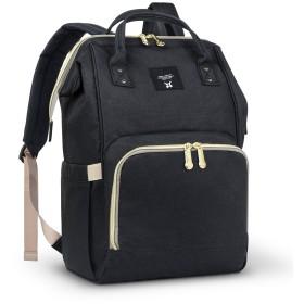 Yarrashop マザーズバッグ マザーズリュック 軽量 ママバッグ 出産祝い 大容量 多機能 豊富なポケット付き(ブラック)