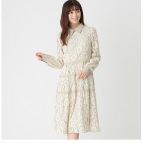 【TO BE CHIC:ワンピース】モールフラワーラッセルドレス