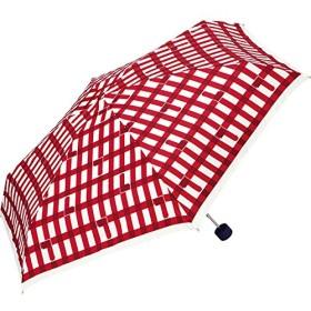 ワールドパーティー(Wpc.) 雨傘 折りたたみ傘  レッド 赤  53cm  レディース シリンダーケースタイプ トリチェック ミニ 361-198 RD