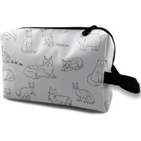 可愛い犬柄 動物 化粧バッグ 収納袋 女大容量 化粧品クラッチバッグ 収納 軽量 ウィンドジップ
