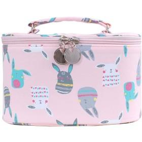 大容量の洗面用品袋/構造袋/旅行化粧品袋、ピンク(1個)