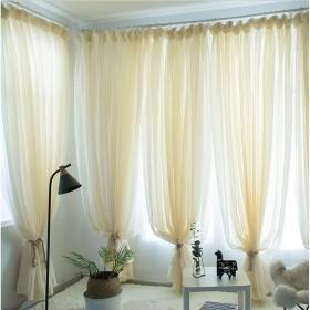 窓カーテンシェーディング布プリーツカーテンブラインド遮光カーテン、ベッドルームリビングルームバルコニー装飾窓 (色 : イエロー いえろ゜, サイズ さいず : 1W2.0H2.7m)